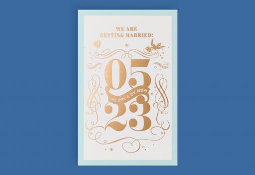 금빛 파랑새 청첩장 미리보기 3